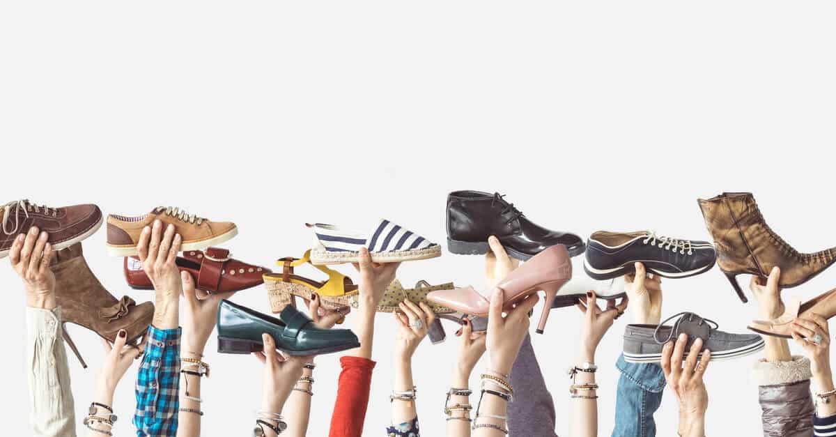 calçados versáteis