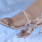 sandália bico quadrado